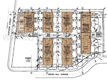 Sitemap: Bungalow & Townhomes at Briar Hill & Dufferin St